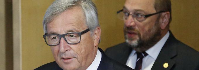 In tiefer Sorge um Europa: Jean-Claude Juncker und Martin Schulz.