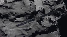 Screenshot aus einem ESA-Video: So stürzt Rosetta auf den Kometen hinab.