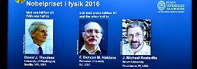 Exotische Zustände der Materie: Nobelpreis geht an drei Quantenforscher