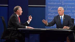 TV-Duell der zweiten Garde: US-Vizekandidaten streiten über Trumps Steuerpraktiken