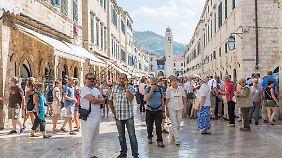 In Dubrovnik ist immer viel los.