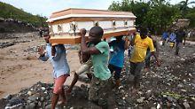 """Präsidentenwahl in Haiti verschoben: Zahl der Todesopfer durch """"Matthew"""" steigt"""