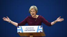 Theresa Maybereitet den Brexit mit markigen Worten vor. Sonst hat sie kaum eine Strategie.