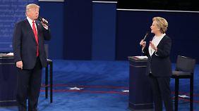 Zweites TV-Duell: Clinton und Trump liefern sich Schlammschlacht