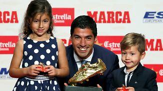 "Bester Torjäger Europas: Luis Suárez jubelt über ""Goldenen Schuh"""