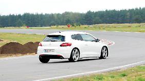 Der kann schon was: Die Runden mit VW Scirocco R auf der Rennstrecke haben echte Freude bereitet.