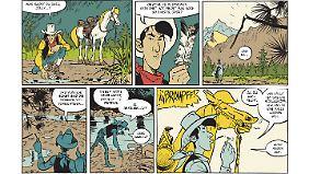 Lucky Luke begibt sich auf die Spur eines Postkutschenüberfalls.
