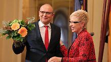 Dritte Amtszeit mit Rot-Schwarz: Schweriner Landtag bestätigt Erwin Sellering