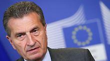 Der neue EU-Kommissar für Haushalt und Personalwesen, Günther Oettinger, muss sich vor dem Parlament verantworten.