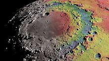 Von der Erde aus knapp zu sehen: Rätsel um Mondkrater mit drei Ringen gelöst