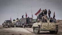 Heftige Gefechte mit IS-Kämpfern: Irakische Armee rückt in Mossul vor