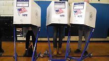 Hoffen und Bangen: New Yorker wählen Clinton