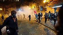 Ein Verletzter in Portland: Bei Anti-Trump-Demo fallen Schüsse