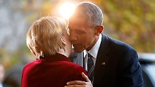 Abschied von Obama: Merkel hatte eine Träne im Auge