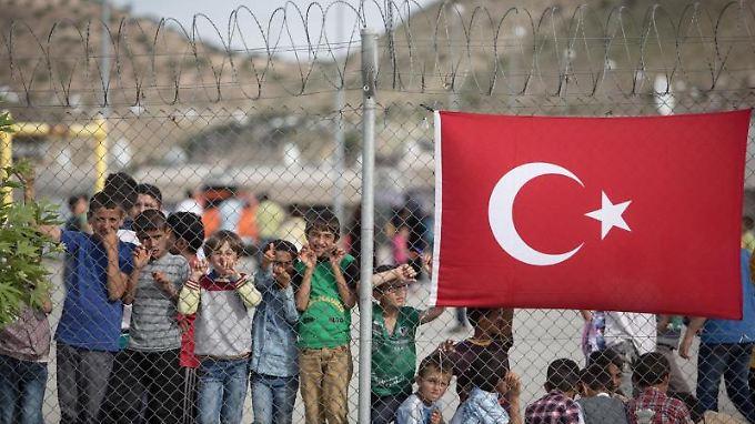 Bis zu 500 Menschen sollen pro Monat aus den türkischen Flüchtlingslagern, wie hier in Nizip nahe Gaziantep, nach Deutschland kommen.