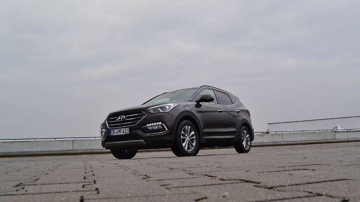 Schick sieht er schon aus der Hyundai Santa Fe. Aber Optik ist nur die halbe Miete.