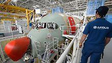 Bau des A350 XWB im französischen Toulouse.
