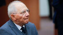 Bundesfinanzminister Schäuble lehnt die EU-Pläne ab und kann sich damit bei den Kollegen des Euroraums durchsetzen.