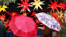 Kein Glühwein-Wetter am dritten Advent: Neues Tief bringt Sturm und Regen