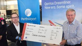 In 17,5 Stunden um die halbe Welt: Qantas bietet ersten Nonstop-Flug von Europa nach Australien an