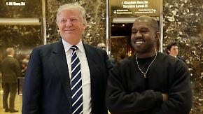 Rätselraten über Anlass: Donald Trump empfängt Kanye West