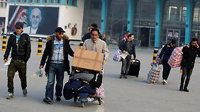Zurück in Kabul: Viele der abgelehnten Flüchtlinge hatten jahrelang in Deutschland gelebt.