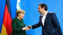 Bei ihrem Treffen am Freitag in Berlin sprachen Merkel und Tsipras auch über die Mordfall von Freiburg.
