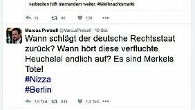 """Pretzell (AfD): """"Es sind Merkels Tote!"""": Anschlag ist für Gegner von Merkels Flüchtlingspolitik gefundenes Fressen"""