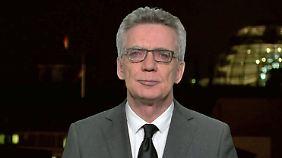 """De Maizière im """"RTL Nachtjournal""""-Interview: """"Es verbietet sich heute, über politische Konsequenzen zu reden"""""""