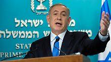 """Lassen uns nicht belehren"": Netanjahu schimpft über Kerry-Rede"