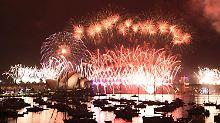 Alle Jahre wieder: großes Feuerwerk über Sydneys berühmtem Opernhaus.