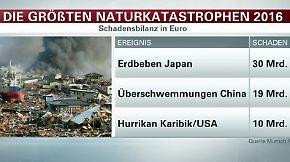 Bilanz von Rückversicherer Munich Re: Schäden durch Naturkatastrophen steigen 2016 enorm an
