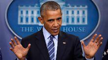 Barack Obama hatte das Land in der Zeit der Finanzkrise übernommen.