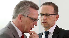 Spitzentreffen zur Innere Sicherheit: De Maizière und Maas beraten über härteres Vorgehen gegen Gefährder