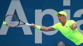 Anders als Davis-Cup-Kollege Mischa Zverev steht Philpp Kohlschreiber im Viertelfinale von Sydney.