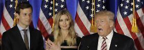 Schwiegersohn als Berater: Trump führt die USA wie ein Unternehmen
