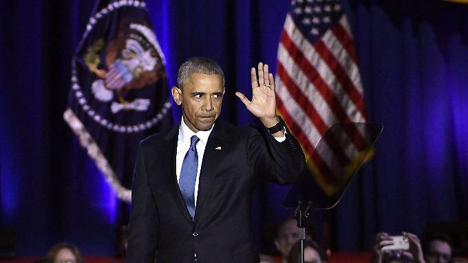 Bilanzierende und mahnende Abschiedsrede: Obama mahnt zu gesellschaftlicher Solidarität