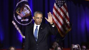 """""""Yes we did, yes we can"""": Obama verabschiedet sich mit emotionaler Rede als US-Präsident"""