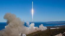 """""""Alle Satelliten ausgesetzt"""": SpaceX schickt wieder Rakete ins All"""
