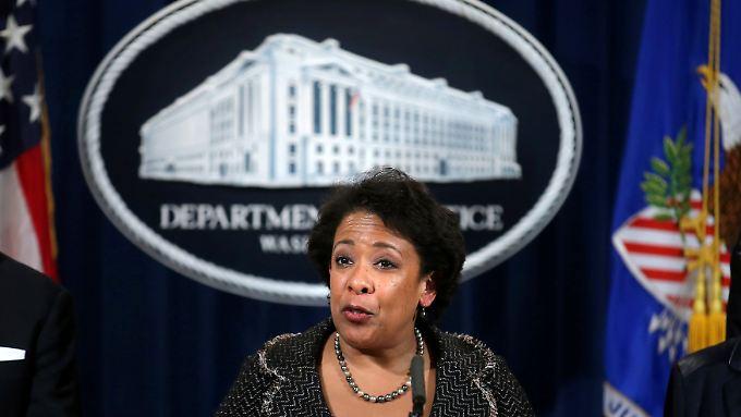 """""""Ernsthafter und dauerhafter Schaden für die US-Bevölkerung"""" - US-Justizministerin Loretta Lynch macht der Deutschen Bank schwere Vorwürfe."""