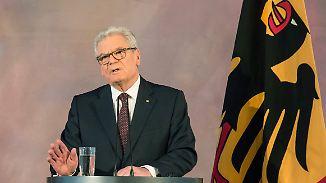 Vom Lückenbüßer zum Glücksfall: Gauck hält Abschiedsrede als Bundespräsident