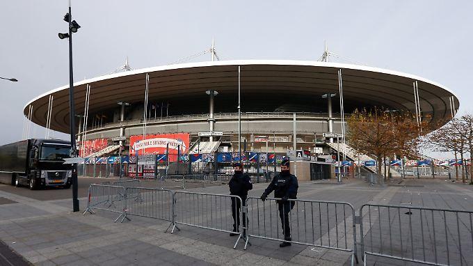Das Stade de France am Tag nach dem Anschlag.