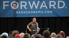 Privater Abschied im Weißen Haus: Springsteen gibt Geheimkonzert für Obama