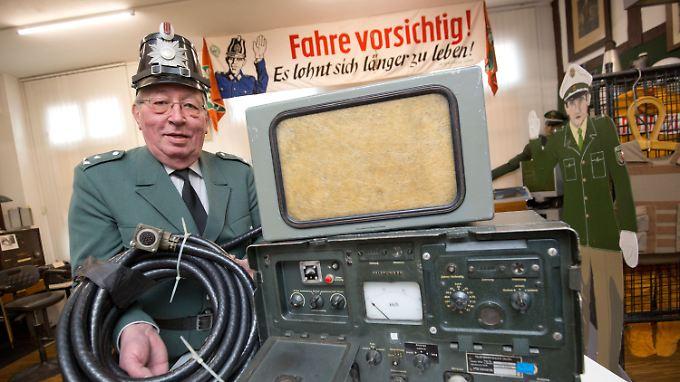 Im Polizeimuseum in Salzkotten ist das Radargerät VRG2 von Telefunken aus dem Jahr 1957 zu besichtigen.