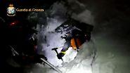 Lawinenunglück in den Abruzzen: Video zeigt schwierigen Einsatz der Rettungskräfte