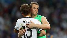 Das wird eng: Im Jahr 2024 ist Manuel Neuer 37, Thomas Müller 34 Jahre alt. Aber vielleicht klappt's ja.