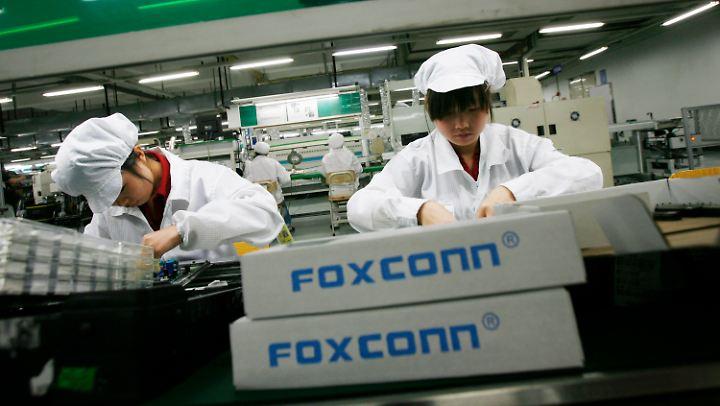 Peking muss befürchten, dass chinesische Foxconn-Arbeitsplätze verloren gehen.