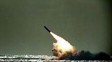 Abfeuern einer Trident-II-Rakete (Archivbild).
