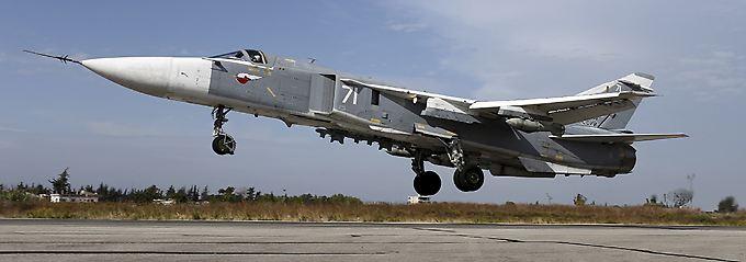 Su-24-Jagdbomber sind Russlands Kampfjets der Wahl in Syrien.