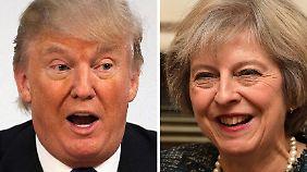 """""""Eine besondere Beziehung"""": Trump und May suchen den Schulterschluss"""